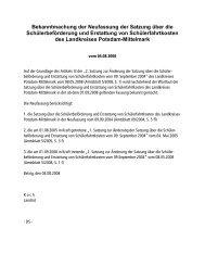 Satzung über die Schülerbeförderung - Landkreis Potsdam-Mittelmark