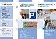 Flyer Beratungsstelle Brandenburg - Landkreis Potsdam-Mittelmark