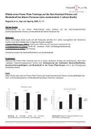 Effekte eines Power Plate-Trainings auf die Herz-Kreislauf-Fitness ...