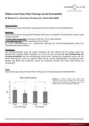 Effekte eines Power Plate-Trainings auf die Kniestabilität