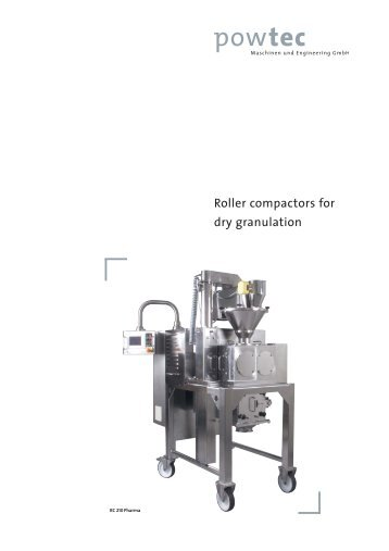 Roller compactors for  dry granulation