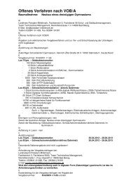 Offenes Verfahren nach VOB/A - Landkreis Potsdam-Mittelmark