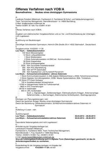 Honorarvertrag â Muster Landkreis Potsdam Mittelmark