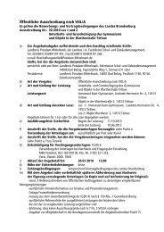 Öffentliche Ausschreibung nach VOL/A - Landkreis Potsdam ...