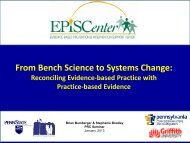 From Bench Science to Systems Change: