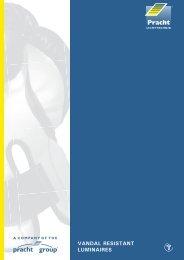 VANDAL RESISTANT LUMINAIRES - Alfred Pracht Lichttechnik GmbH