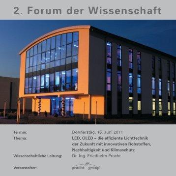 2. Forum der Wissenschaft - Alfred Pracht Lichttechnik GmbH