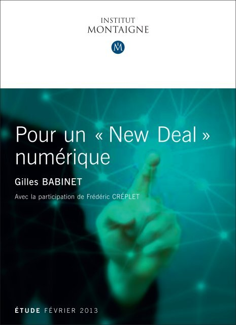 Pour un « New Deal » numérique