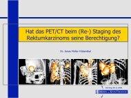 Vortrag PET/CT bei RektumCa anlässl. des Darmtags