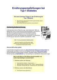 Ernährungsempfehlungen Bei Typ-1 Diabetes - Praxis Dr.  Klein / Dr ...