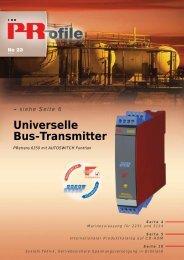 siehe Seite 6 Universelle Bus-Transmitter - PR electronics