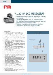 4...20 mA LCD mESSGERÄT - PR electronics