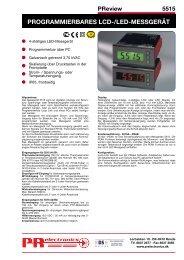 PROGRAMMIERBARES LCD-/LED-MESSGERÄT - PR electronics