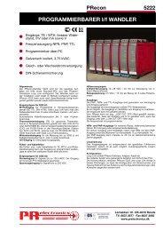 PROGRAMMIERBARER I/f WANDLER - PR electronics