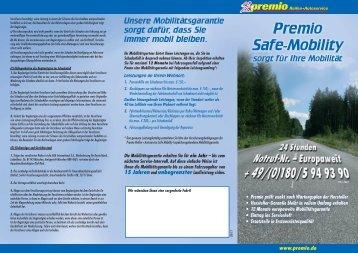 Safe Mobility-Flyer - Premio Reifen + Autoservice