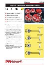 2-DRAHT UNIVERSALMESSUMFORMER - PR electronics