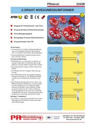 2dDRAHT NIVEAUMESSUMFORMER - PR electronics
