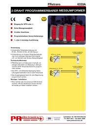 2-draht programmierbarer messumformer - PR electronics