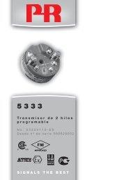 SIGNALS THE BEST Transmisor de 2 hilos ... - PR electronics