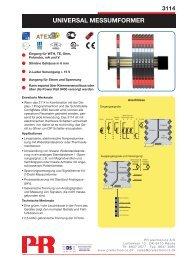 UniVERSAL MESSUMfORMER - PR electronics