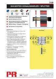 ISOLIERTER SIGNALWANDLER / SPLITTER - PR electronics