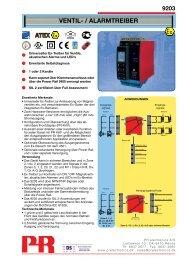 VENTIL- / ALARMTREIBER - PR electronics
