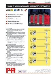 PRetrans 6335A 2-DRAHT MESSUMFORMER MIT ... -  PR electronics