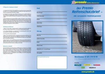 Der Premio Reifenschutzbrief – - Premio Reifen + Autoservice