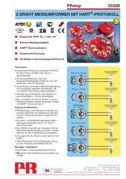 PRetop 5335D 2-DRAHT MESSUMFORMER MIT ... -  PR electronics