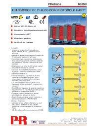 PRetrans 6335D TRANSMISOR DE 2 HILOS CON ... - PR electronics