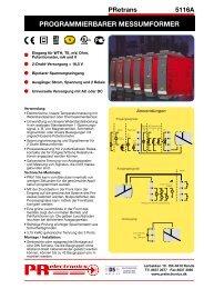 PROGRAMMIERBARER MESSUMFORMER - PR electronics