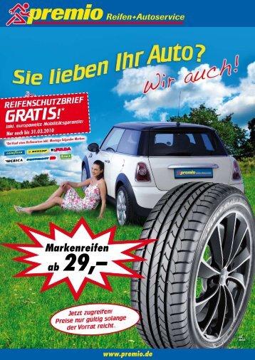 ab 29,– - Premio Reifen + Autoservice