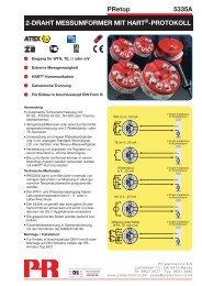 PRetop 5335A 2-DRAHT MESSUMFORMER MIT ... -  PR electronics