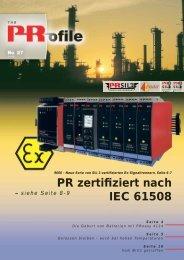 PR zertifiziert nach IEC 61508 - PR electronics
