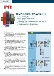 TEMPERATUR / mA WANDLER - PR electronics