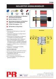 ISOLIERTER SIGNALWANDLER - PR electronics