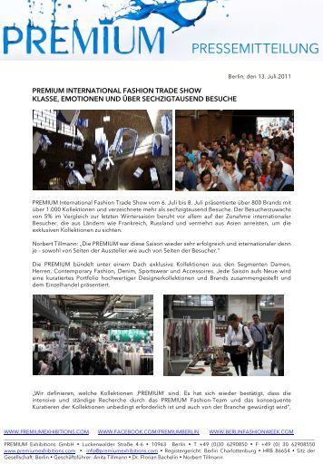 premium international fashion trade show klasse, emotionen und ...