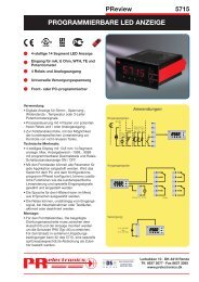 PRogRammieRbaRe LeD anzeige - PR electronics