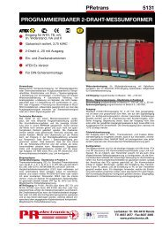 programmierbarer 2-draht-messumformer - PR electronics
