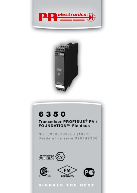 SIGNALS THE BEST Transmisor PROFIBUS® PA ... - PR electronics