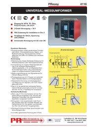 UNIVERSAL-MESSUMFORMER - PR electronics