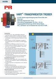 HART®-TRAnspARenTeR TReibeR - PR electronics