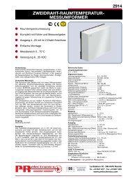 zweidraht-raumtemperatur- messumformer - PR electronics