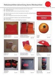 Reklameartikler/advertising items/Werbeartikel - Pressalit A/S