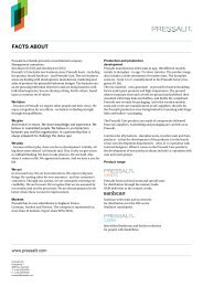 facts about - Pressalit A/S