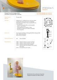 Pressalit Pinocchio (modèle enfant), charnières ... - Pressalit A/S