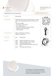 Get information here (PDF) - Pressalit A/S