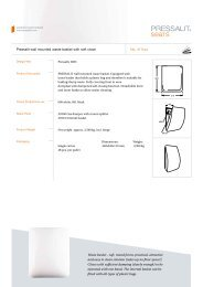 Pressalit wall mounted  waste basket with soft close No. 411xxx ...