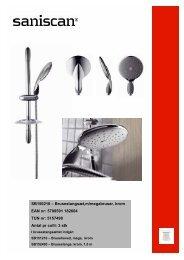 SB150210 – Brusestangsæt,m/megabruser, krom ... - Pressalit A/S