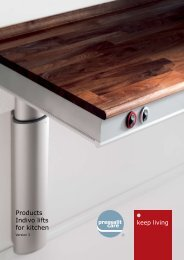 Products Indivo lifts for kitchen - Pressalit A/S